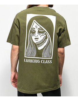 Sketchy Tank Lurking Class Two Faced Green T Shirt by Class War Inc