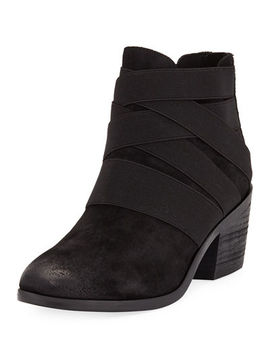 Willis Suede Stretchy Booties by Eileen Fisher