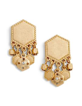 Charm Plate Drop Earrings by Treasure & Bond