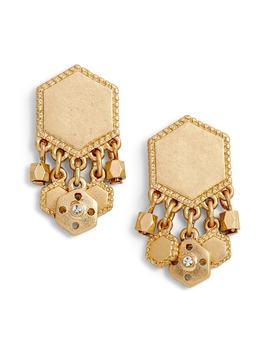 Charm Plate Drop Earrings by Treasure & Bond