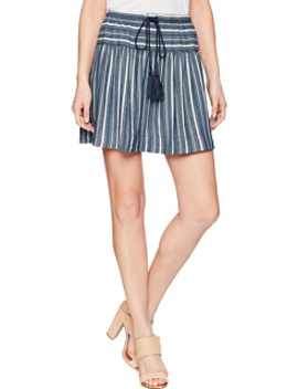 Foundry Indigo Stripe Skirt by Dylan By True Grit