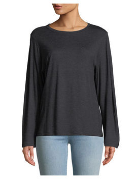 Long Sleeve Crewneck Slub Tee by Vince