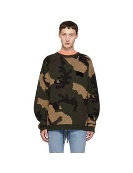 Green Camouflage Sweater by Off White