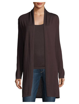 Modern Superfine Cashmere Duster by Neiman Marcus Cashmere Collection