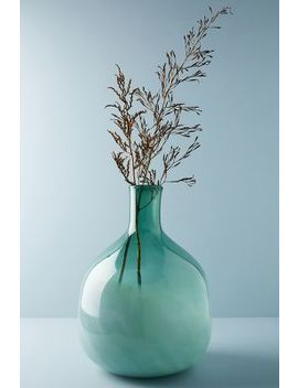 Green Glass Jug Vase by Anthropologie