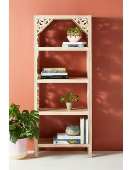 Handcarved Lotus Bookshelf by Anthropologie