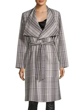 Ginny Plaid Wrap Jacket by Alice + Olivia