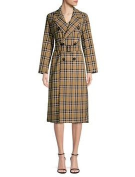 Finanza Plaid Trench Coat by Max Mara