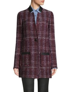Tweed One Button Blazer by St. John