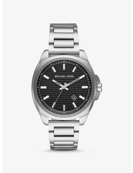 Bryson Silver Tone Watch by Michael Kors