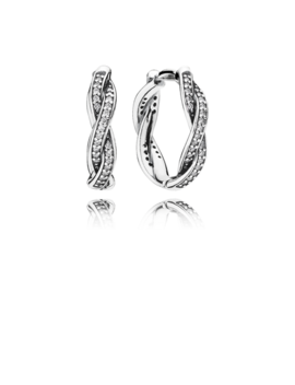 Twist Of Fate Earrings, Clear Cz by Pandora
