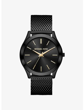 Slim Runway Mesh Black Tone Watch by Michael Kors