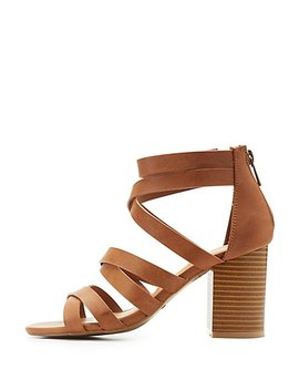 Bamboo Strappy Sandals by Charlotte Russe