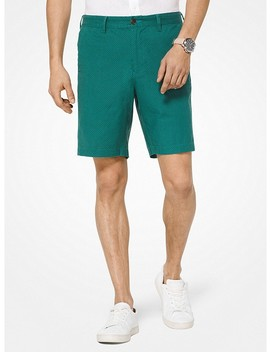 Printed Linen Blend Shorts by Michael Kors Mens