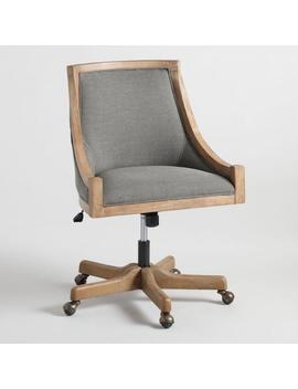 Charcoal Linen Henry Upholstered Office Chair by World Market
