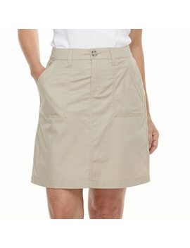 Women's Croft & Barrow® Twill Skort by Croft & Barrow