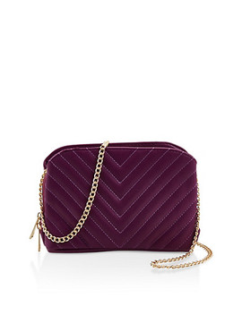 Chevron Stitch Quilted Crossbody Bag by Rainbow