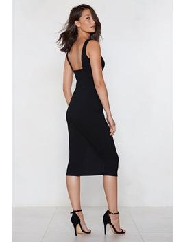 Plunge Down Midi Dress by Nasty Gal