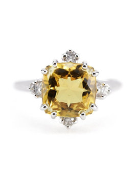 Heliodor And Diamond Cocktail Ring, The Catherine Ring By Elizabeth Henry Jpa037 N by Eh Collection