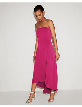 Strapless Hi Lo Maxi Dress by Express