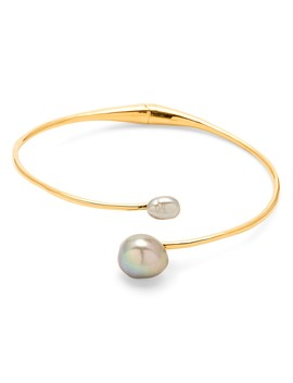 Vienna Cultured Freshwater Pearl Bypass Bracelet by Gorjana