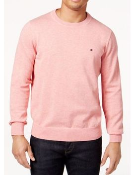 Tommy Hilfiger Men's Light Scallop Heather Pink Crew Neck Pullover Sweater by Ebay Seller