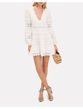 Castile Plunge Mini Dress by Zimmermann