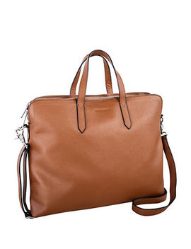 Zip Leather Laptop Briefcase by Nextech