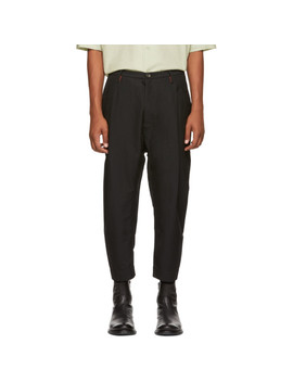 Black Chino Trousers by Ziggy Chen