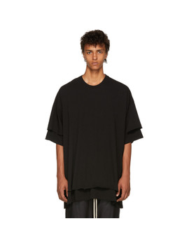 Black Double Layered T Shirt by Julius