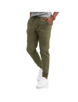 Men's Twill Moto Jogger Pants by George
