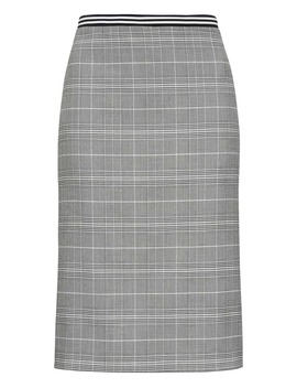 Plaid Pencil Skirt With Vented Sides by Banana Repbulic