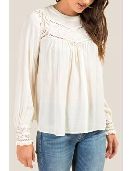 Adelaide Crochet Peasant Blouse by Francesca's