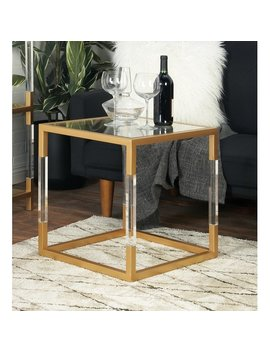 Cole & Grey Metal, Glass And Acrylic End Table & Reviews by Cole & Grey