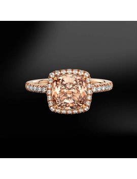 Morganite & Diamond Gold Ring by Marcelloricciolondon