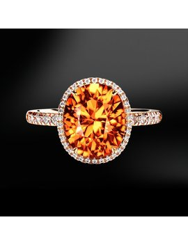 Spessartite Garnet & Diamond Ring by Marcelloricciolondon