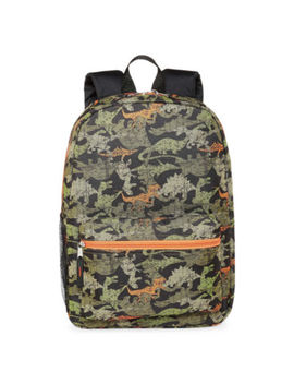 City Streets Camo Dino Backpack by City Streets