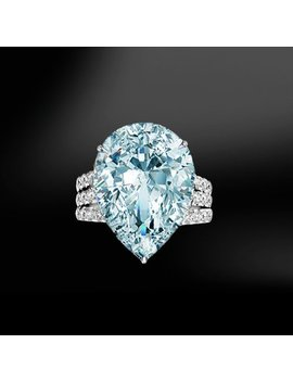 Aquamarine & Diamond Gold Ring by Marcelloricciolondon