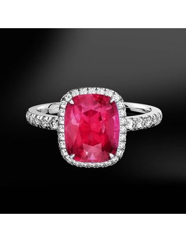 Spinel & Diamond Gold Ring by Marcelloricciolondon