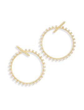 Charlie Grace Hoop Earrings In Gold by Kendra Scott