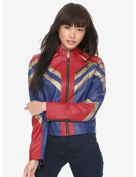 Marvel Captain Marvel Faux Leather Jacket by Hot Topic