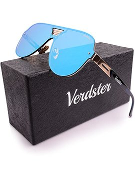 Verdster Aviator Casual Trendy Mirrored Sunglasses For Men & Women   Custom Tour De Pro Lenses   Accessories Case   Uv400 Protection   Oversized Shades   Great For Driving, City Walking by Verdster