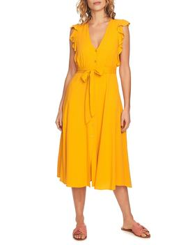 Button Front Midi Dress by 1.State