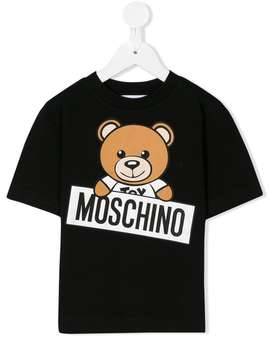 Moschino Kidsbear Print T Shirthome Kids Moschino Kids Girls Clothing Girls T Shirts by Moschino Kids