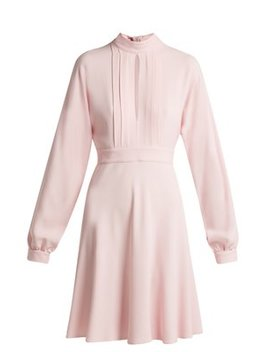 Pleated Keyhole Crepe Dress by Giambattista Valli