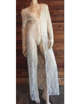 Nwt Zanza Ivory Lace Size 10 Peignoir Or Robe by Zanza