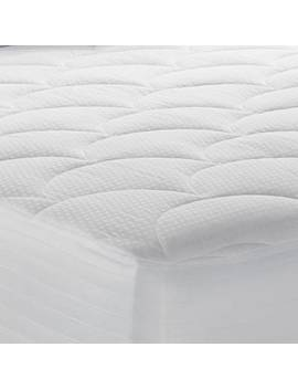 500 Thread Count Mattress Pad In White by Therapedic