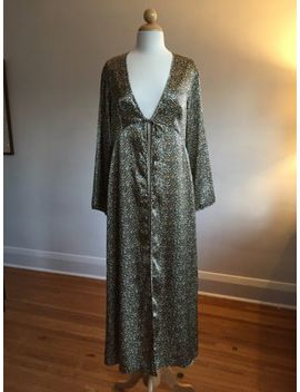 Nwot Inner Most Satin Leopard Print Peignoir Open Front Robe Dressing Gown Sz S by Inner Most