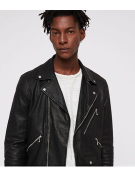 Holt Leather Biker Jacket by Allsaints