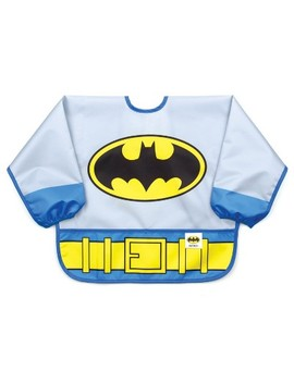 Bumkins Dc Comics Costume Sleeved Batman Bib   Gray by Shop All Bumkins